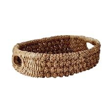 Murmur Water Hyacinth And Banana Rope Storage Basket Natural