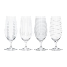 Mikasa Cheers Pack Of 4 Stemmed Pilsner Glasses 460ml
