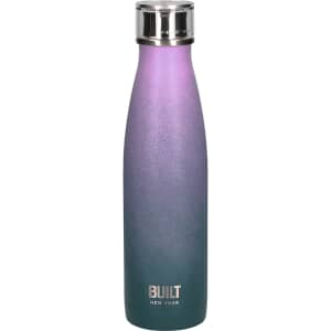 Built 500ml Double Walled Stainless Steel Water Bottle Pink and Blue Ombre
