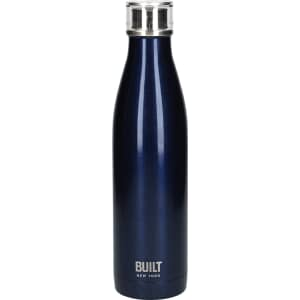Built 740ml Double Walled Stainless Steel Water Bottle Midnight Blue