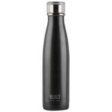 Built 500ml Double Walled Stainless Steel Water Bottle Black and Blue Ombre