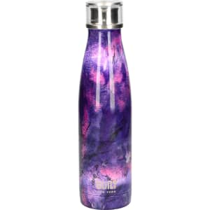 Built 500ml Double Walled Stainless Steel Water Bottle Purple Marble