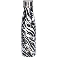 Built 500ml Double Walled Stainless Steel Water Bottle Zebra
