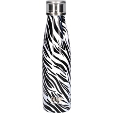 Built 500ml Double Walled Stainless Steel Water Bottle Zebra