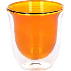La Cafeti�re Colour Amber Double Walled Glasses