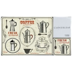 Portmeirion Cloverleaf - Vintage Coffee Placemats And Coasters