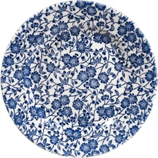 Queens Blue Story Victorian Calico White Salad Plate Set Of 4