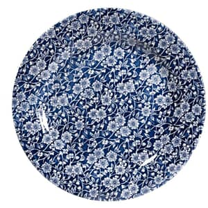 Queens Blue Story Victorian Calico Blue Salad Plate Set Of 4
