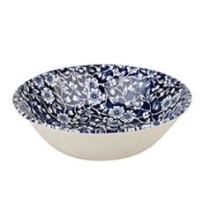 Queens Blue Story Victorian Calico Blue Oatmeal Bowl Set Of 4