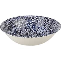 Queens Blue Story Victorian Calico Blue Salad Bowl