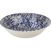 Queens Blue Story Victorian Calico Blue Scollop Bowl Set Of 4