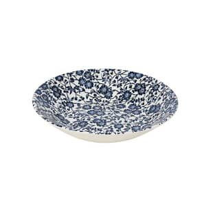 Queens Blue Story Victorian Calico White Scollop Bowl Set Of 4