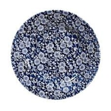 Queens Blue Story Victorian Calico Chelsea Dinner Plate Set Of 4