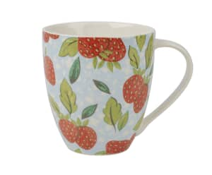 The Caravan Trail Strawberry Blue Mug