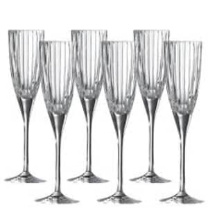 Royal Doulton Linear Champagne Flutes Set Of 6