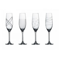 Royal Doulton Party Champagne Flutes Set Of 4