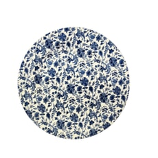 Queens Blue Story Antique Floral Dinner Plate