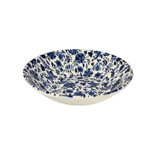 Queens Blue Story Antique Floral Coupe Bowl