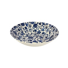 Queens Blue Story Antique Floral Coupe Bowl