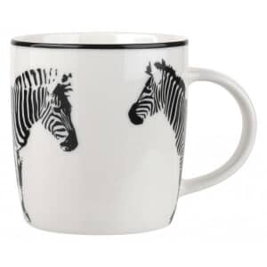 Portmeirion Catherine Lansfield - Funky Zebra Black Mug