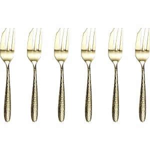 Arthur Price Monsoon Mirage Champagne Box Of 6 Pastry Forks