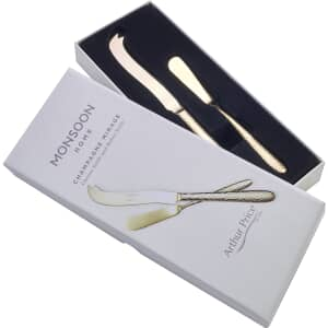 Arthur Price Monsoon Mirage Champagne Boxed Cheese And Butter Knife
