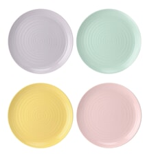 Sophie Conran For Portmeirion Colour Pop - Coupe Side Plates Set Of 4 Assor