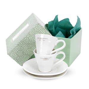Sophie Conran For Portmeirion Espresso Cup and Scr Set 2 White
