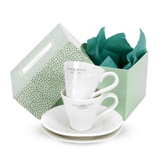 Sophie Conran For Portmeirion Espresso Cup and Scr Set 2 White