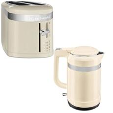 KitchenAid Design 1.5L Jug Kettle And 4 Slot Toaster Almond Cream