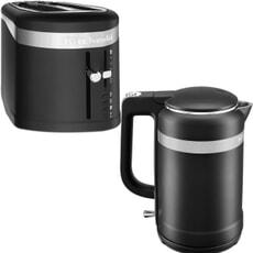 KitchenAid Design 1.5L Jug Kettle And 4 Slice Toaster Matte Black