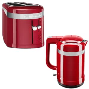 KitchenAid Design 1.5L Jug Kettle And 4 Slice Toaster Empire Red
