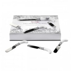 Spode Delamere Rural Cheese Knife and 6 Spreaders