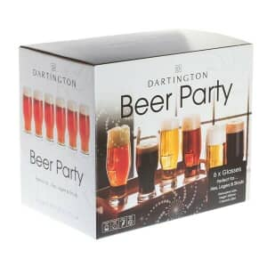 Dartington Party Pack Set Of 6 Beer Party Glasses