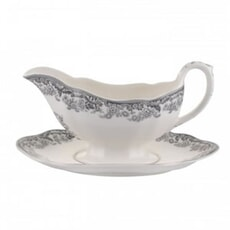 Spode Delamere Rural Sauce Boat and Stand