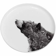 Maxwell and Williams Marini Ferlazzo Black Bear 20cm Plate