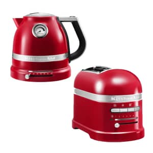 KitchenAid Artisan Kettle And 2 Slot Toaster Empire Red