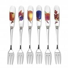 Royal Worcester Evesham Gold Pastry Forks Set Of 6