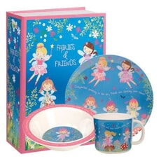 Churchill Little Rhymes - Fairies And Friends 3 Piece Melamine Set