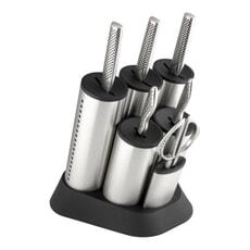 Global G-2020 Cylinder 7 Piece Knife Block Set