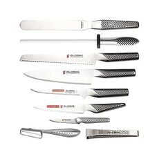 Global GCH6610 10 Piece Knife Case Set