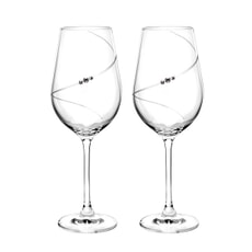 Portmeirion Auris Crystal Red Wine Glass Set of 2