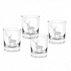 Spode Glen Lodge Tumblers Stag Set Of 4