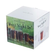 Dartington Boys Night In Pint Glass 4 Pack