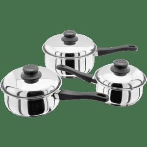 Judge Essentials 3 Piece Saucepan Set