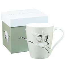 Churchill China Harlequin Aspen Palmetto Cranes Platinum Mug