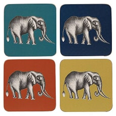 Churchill China Harlequin Savanna Coasters Set Of 4