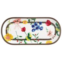 Maxwell and Williams Teas and Cs Contessa 25 x 11.5cm Oblong Platter White