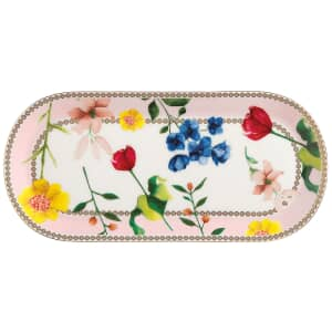 Maxwell and Williams Teas and Cs Contessa 25 x 11.5cm Oblong Platter Rose