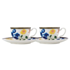 Maxwell and Williams Teas and Cs Contessa Set of 2 Demi Cup Set White